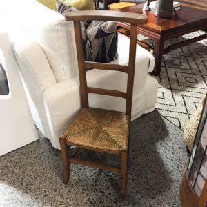 rush seat antique chair