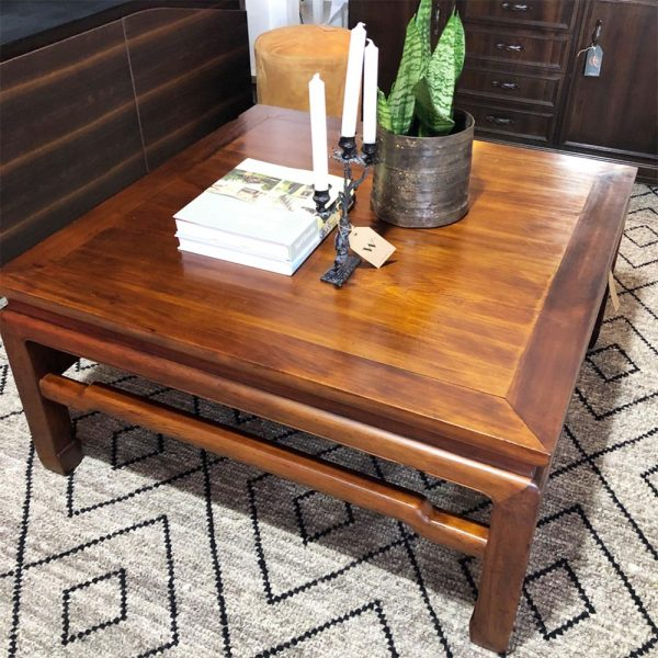 ethnic large square coffee table