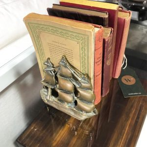 brass boat book ends