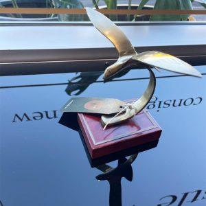 brass mid-century bird
