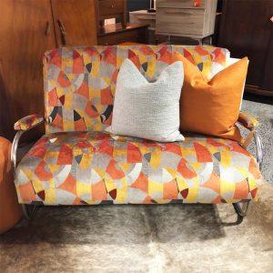 retro chrome sofa