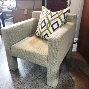 chubby tweed armchair