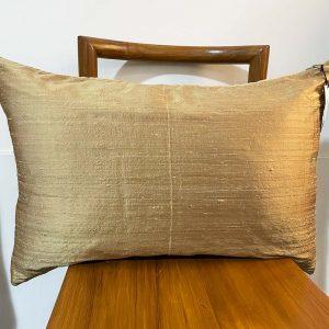 gold silk lumber cushion