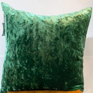 Carlucci green velvet cushion