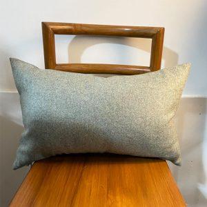 green wool lumber cushion
