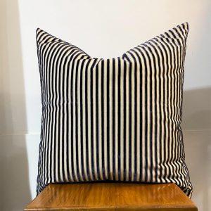 navy stripe euro cushion