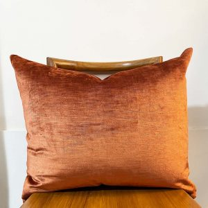 Rust vintage velvet from Mokum textiles