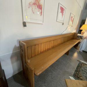 unique vintage kauri wooden pew