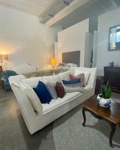 republic 3-seater linen sofa