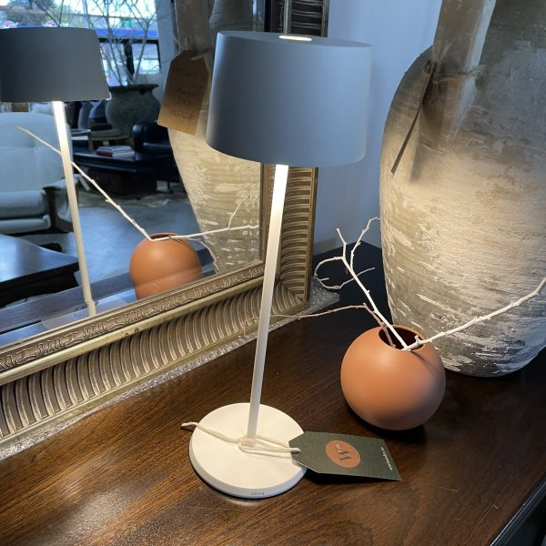 white modern table lamp