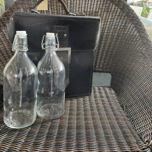 vintage leather beer case